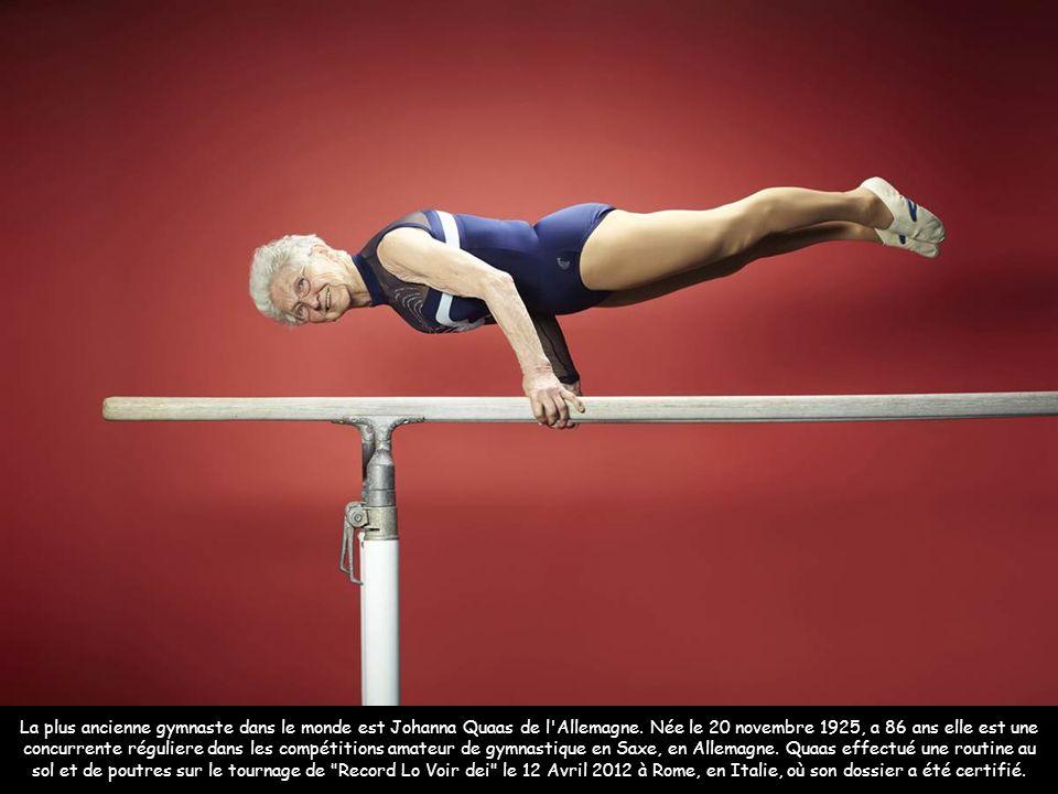 Zeus, le plus grand chien du monde qui engloutit 14 kilos de viande par jour Image: AFP La plus ancienne gymnaste dans le monde est Johanna Quaas de l Allemagne.