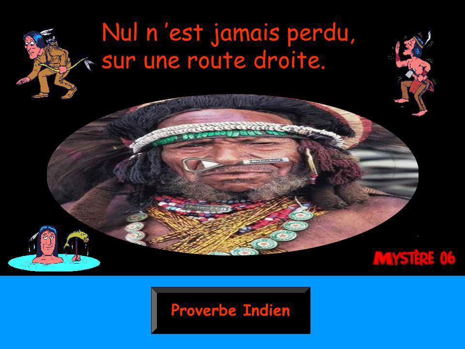 Proverbe Indien Nul n est jamais perdu, sur une route droite.