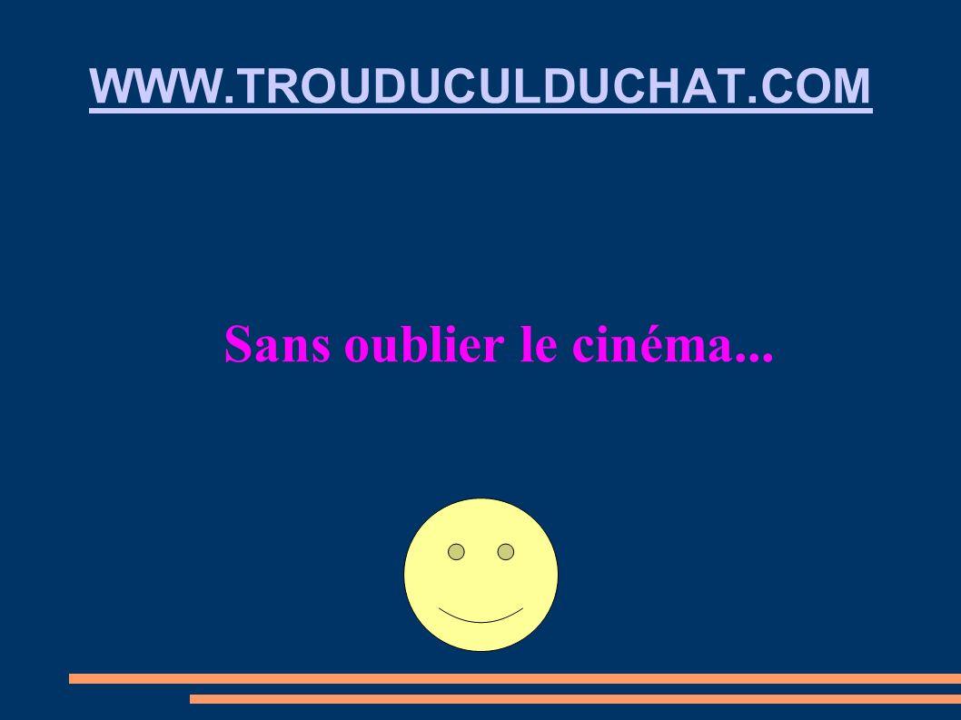 WWW.TROUDUCULDUCHAT.COM Sans oublier le cinéma...
