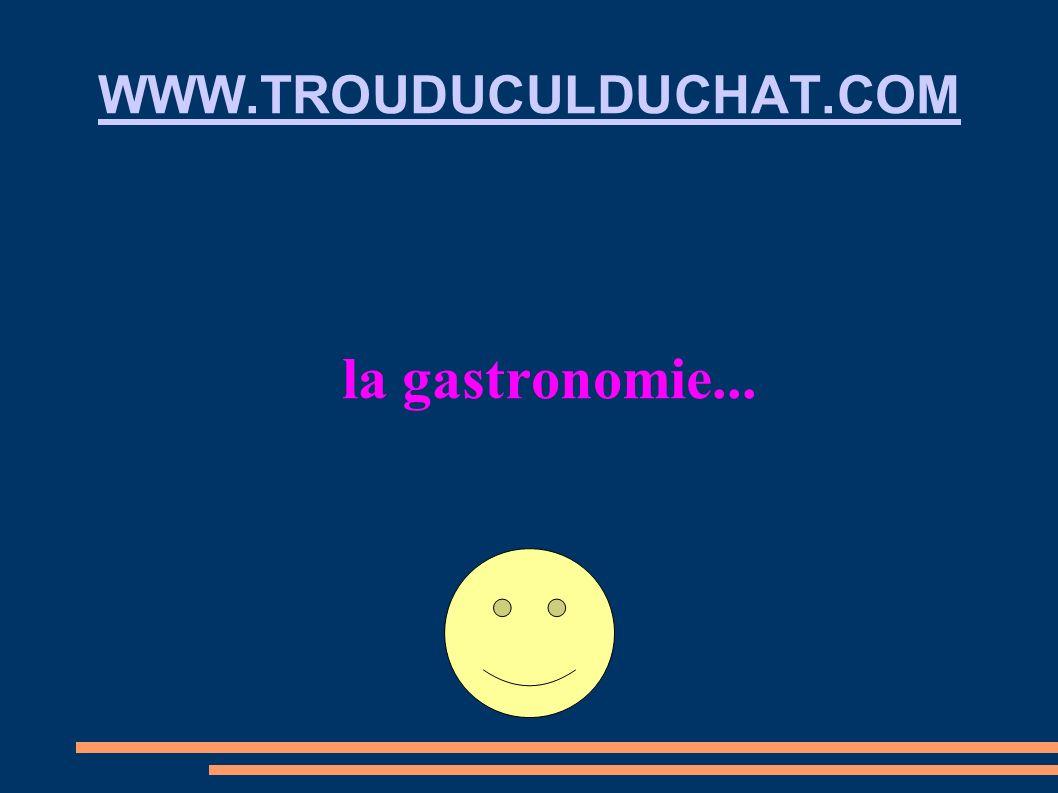 WWW.TROUDUCULDUCHAT.COM la gastronomie...