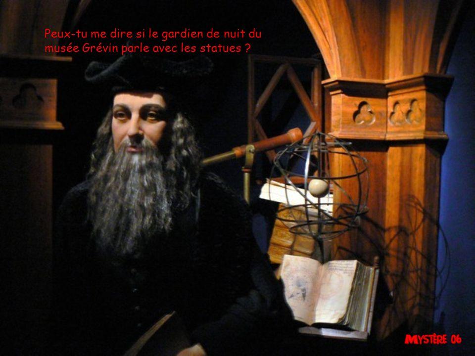 Peux-tu me dire si le gardien de nuit du musée Grévin parle avec les statues ?