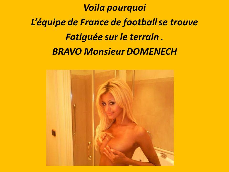 Elle doit Être chère, Mais quand on est Un joueur de Léquipe de France ?