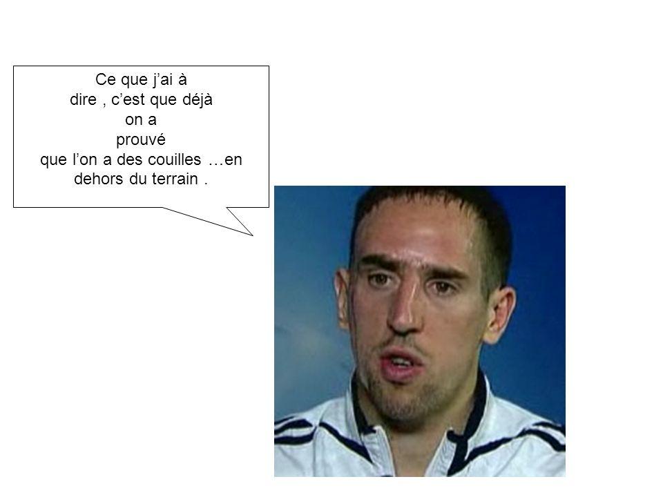 Voila pourquoi Léquipe de France de football se trouve Fatiguée sur le terrain. BRAVO Monsieur DOMENECH