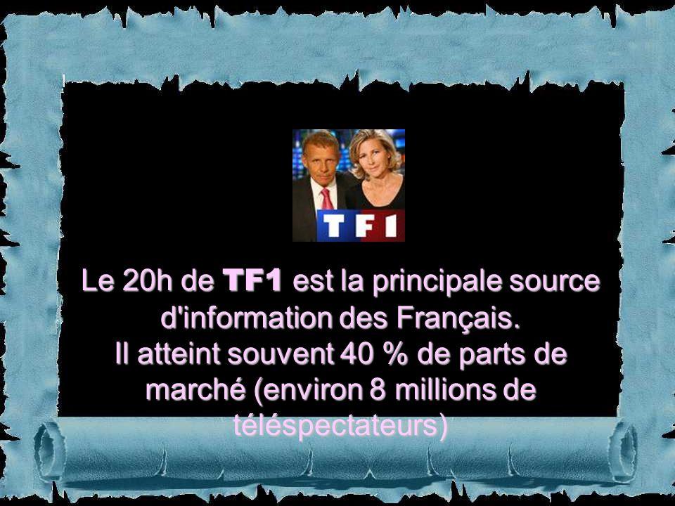Le 20h de TF1 est la principale source d information des Français.