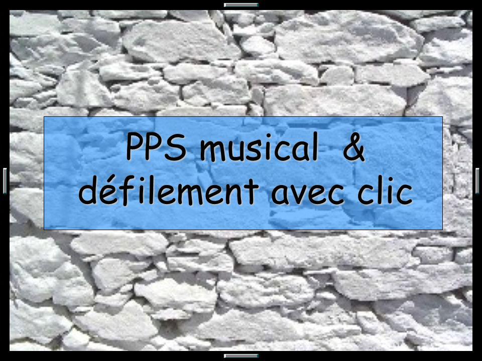PPS musical & défilement avec clic