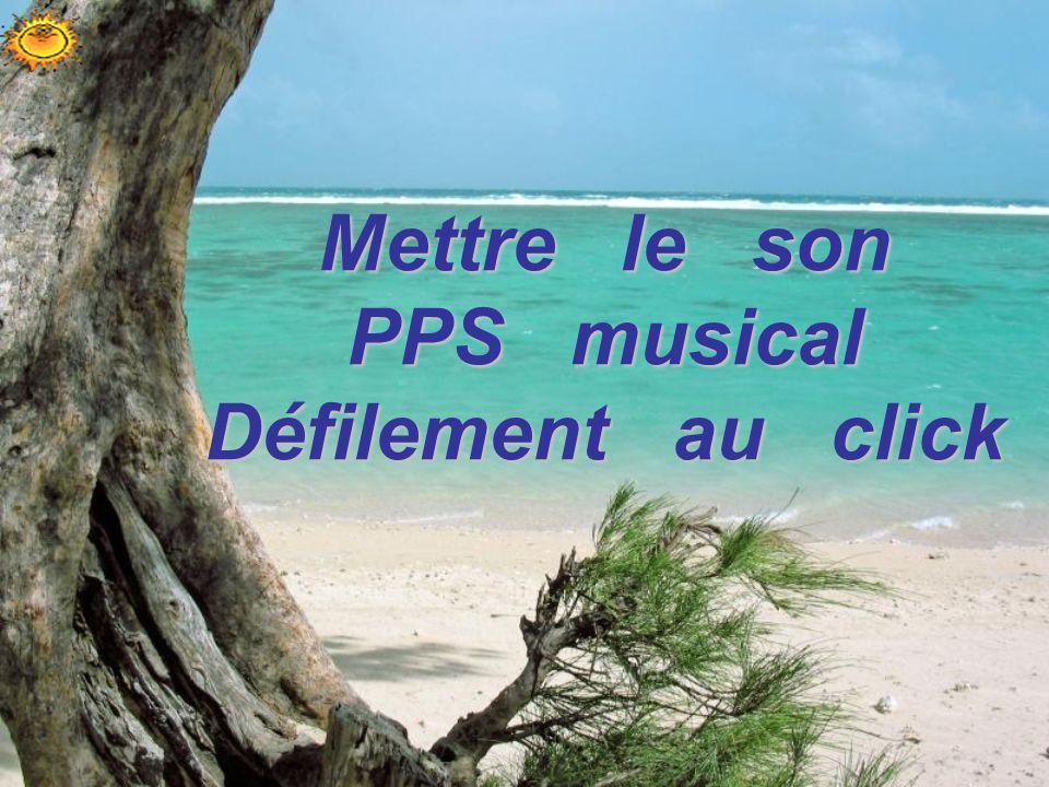 Mettre le son PPS musical Défilement au click