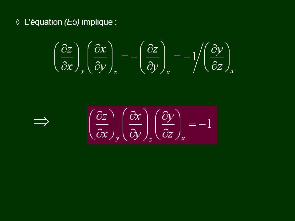L'équation (E5) implique :