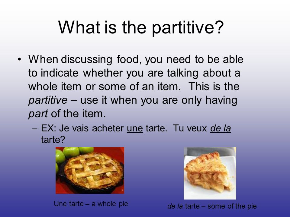 What is the partitive.