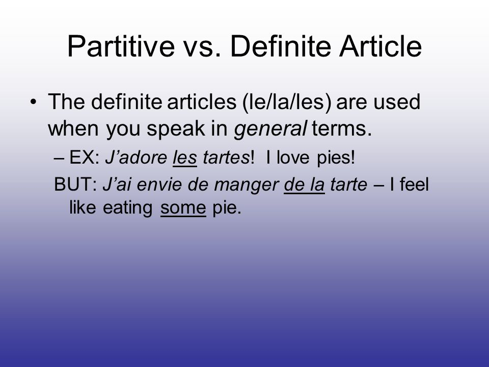 Partitive vs.