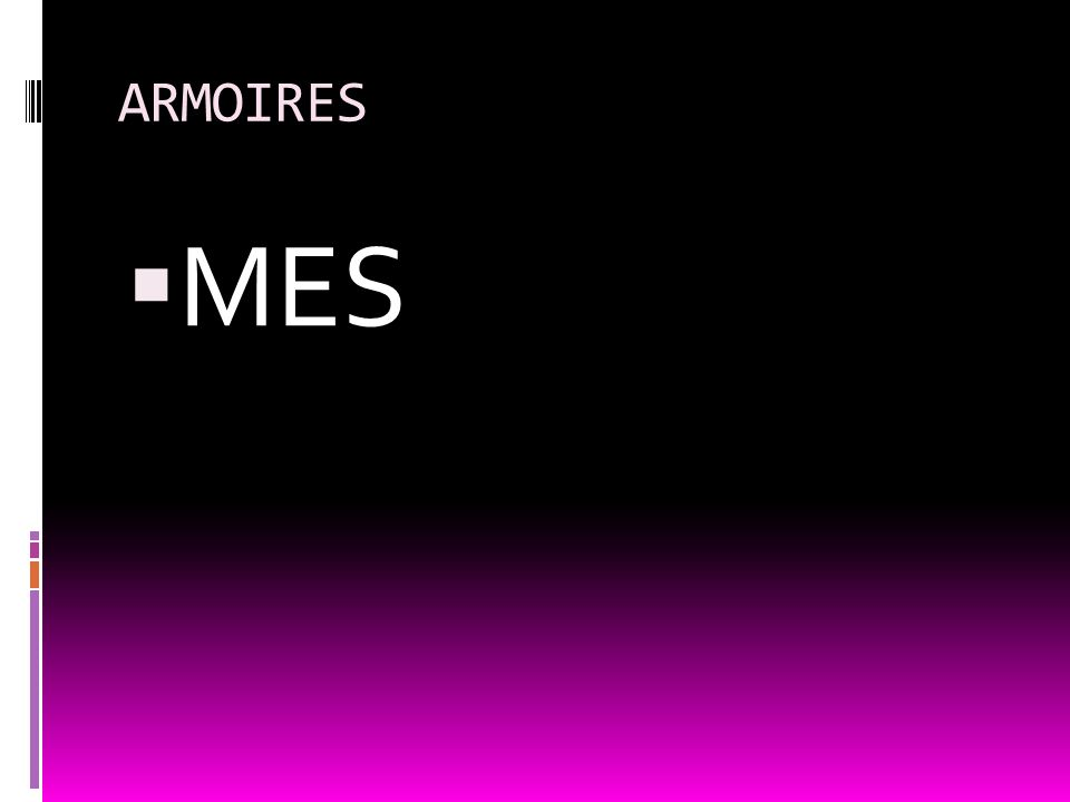 ARMOIRES MES