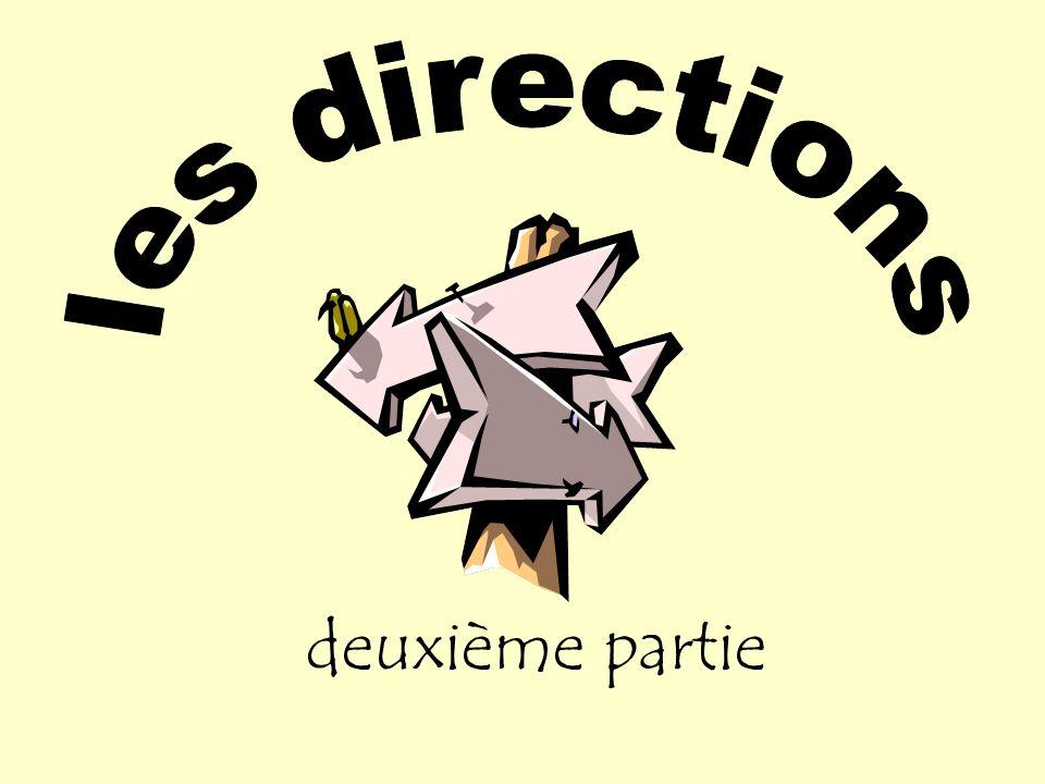 Les 5 verbes pour donner les directions.1. a……………… 2.