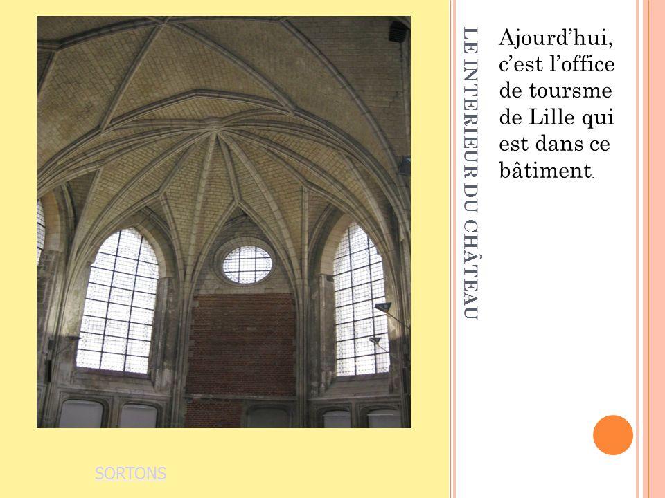 LE INTERIEUR DU CHÂTEAU Ajourdhui, cest loffice de toursme de Lille qui est dans ce bâtiment.
