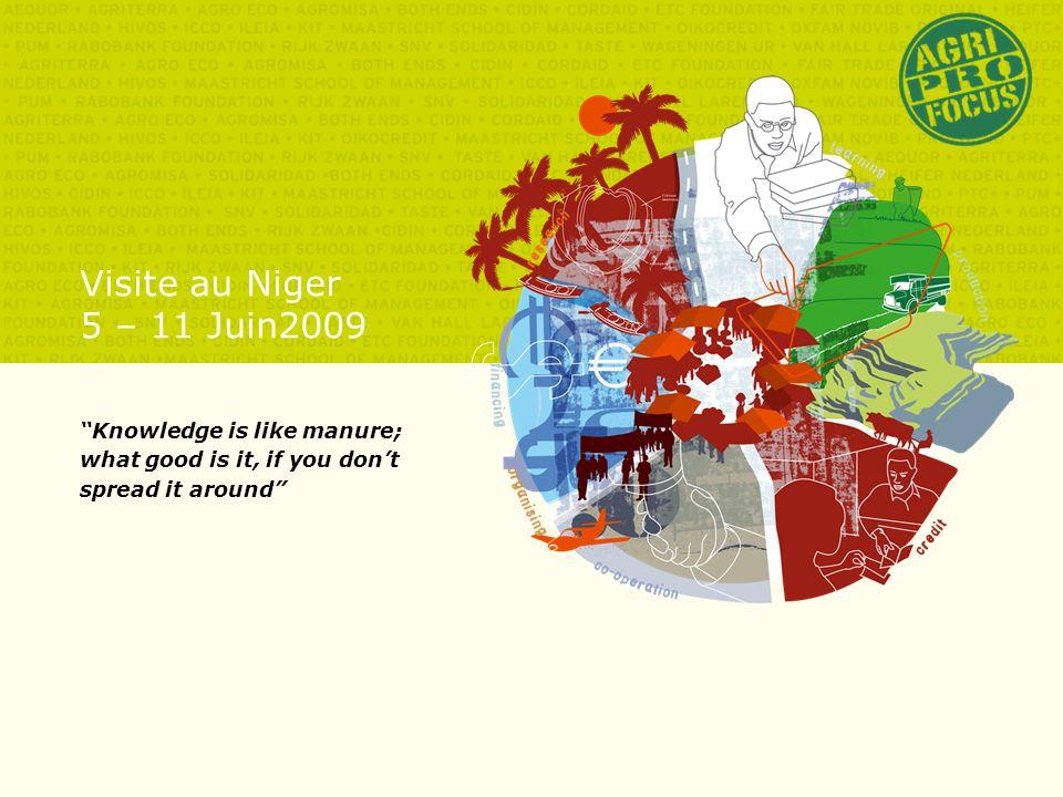 Agende 1.Introduction des participants 2.Agri-ProFocus Plan Stratégique 2009-2012 3.Country Focus Niger: la PROMOTION de lENTREPRENEURIAT PAYSAN au Niger a.