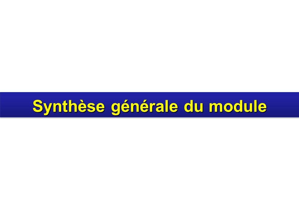 Synthèse générale du module