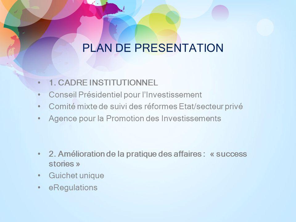 PLAN DE PRESENTATION 1.