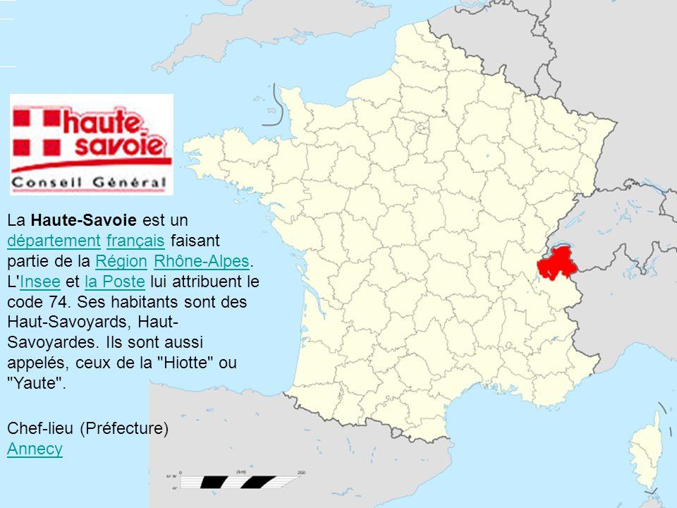 La Haute-Savoie est un département français faisant partie de la Région Rhône-Alpes. L'Insee et la Poste lui attribuent le code 74. Ses habitants sont