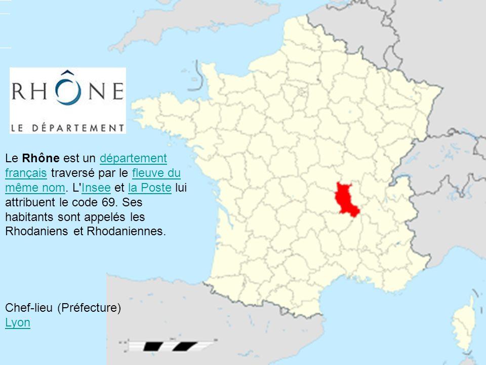 Le Rhône est un département français traversé par le fleuve du même nom. L'Insee et la Poste lui attribuent le code 69. Ses habitants sont appelés les