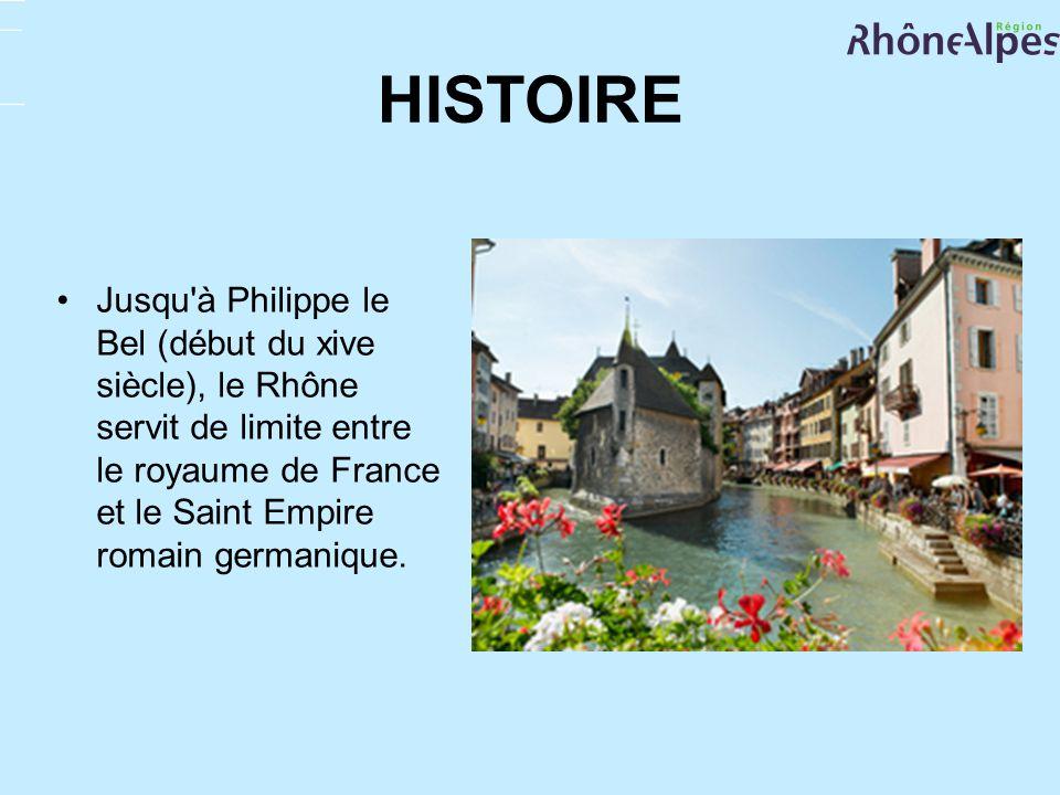 HISTOIRE Jusqu'à Philippe le Bel (début du xive siècle), le Rhône servit de limite entre le royaume de France et le Saint Empire romain germanique.