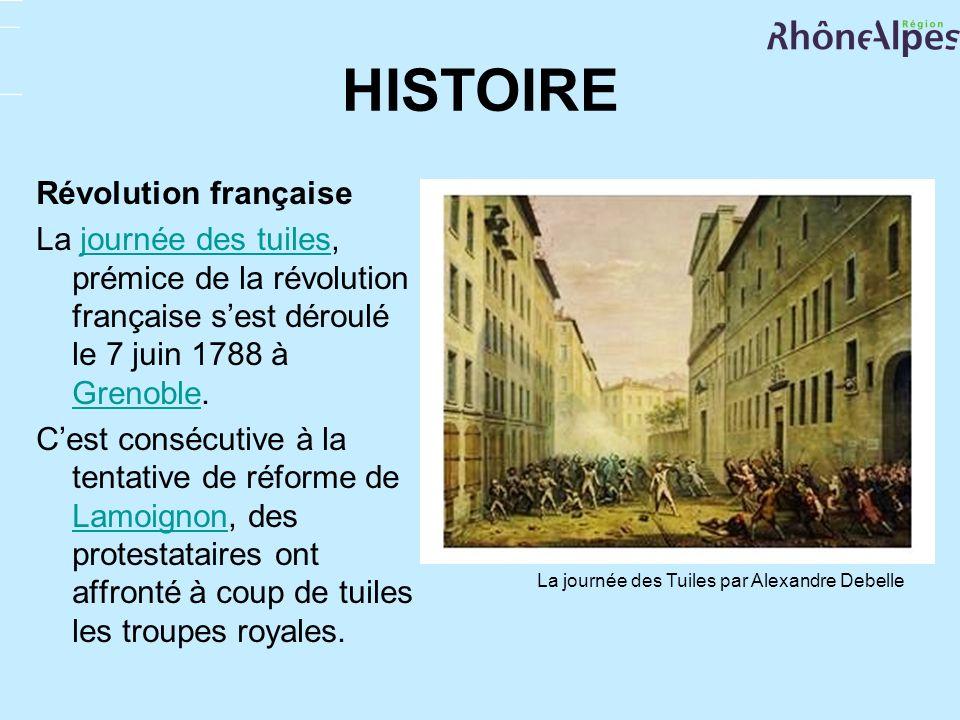 HISTOIRE Révolution française La journée des tuiles, prémice de la révolution française sest déroulé le 7 juin 1788 à Grenoble.journée des tuiles Gren