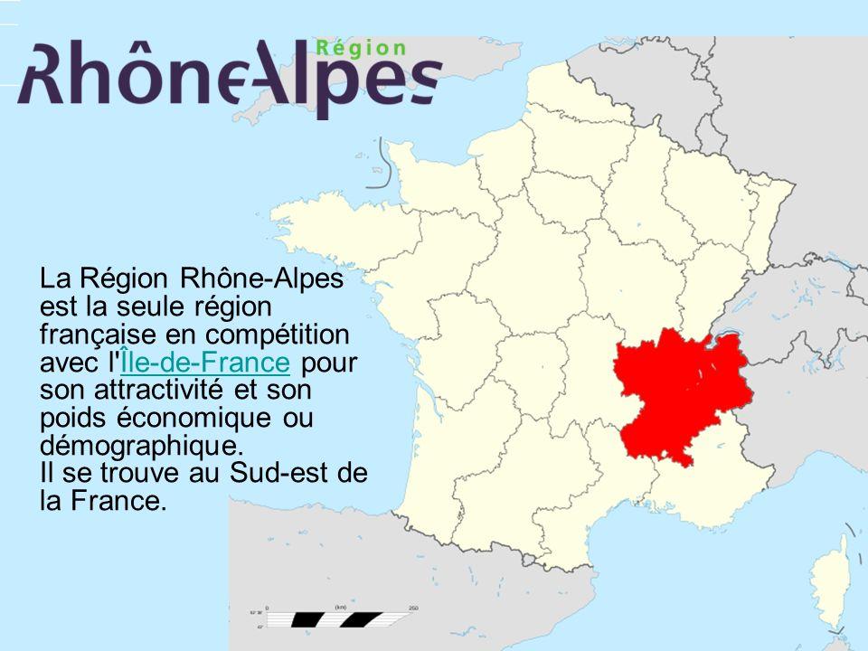 La Région Rhône-Alpes est la seule région française en compétition avec l'Île-de-France pour son attractivité et son poids économique ou démographique
