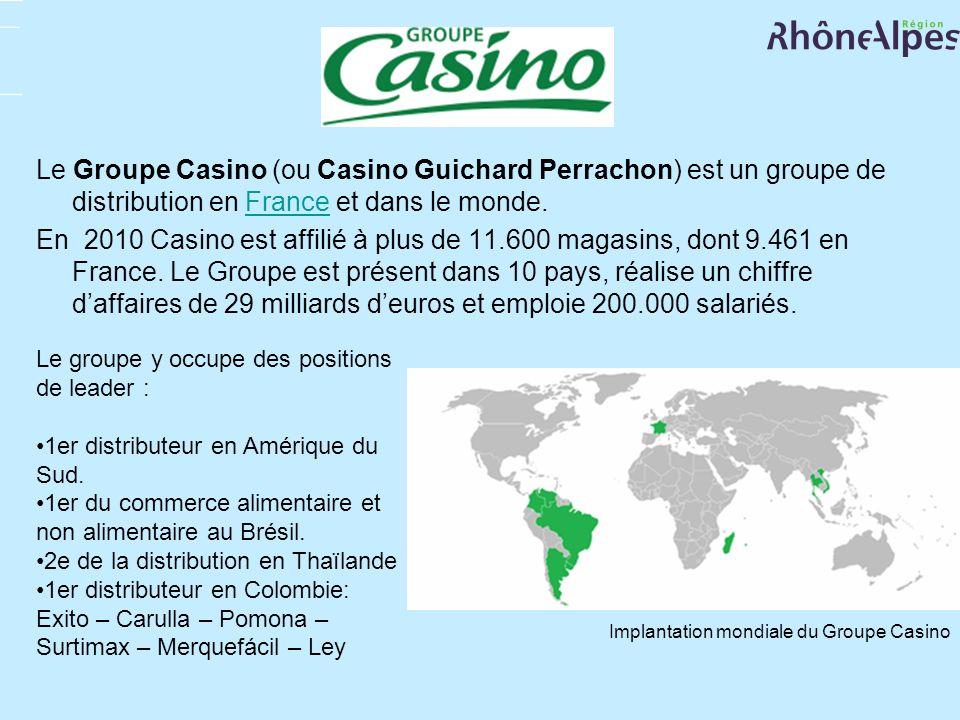 Le Groupe Casino (ou Casino Guichard Perrachon) est un groupe de distribution en France et dans le monde.France En 2010 Casino est affilié à plus de 1