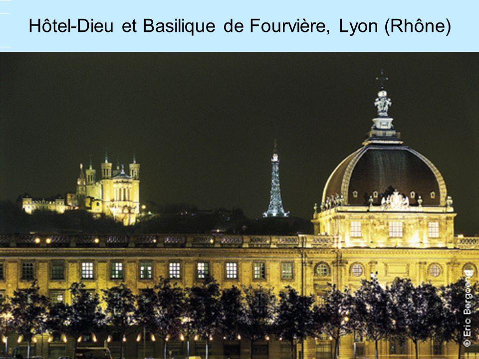 Hôtel-Dieu et Basilique de Fourvière, Lyon (Rhône)