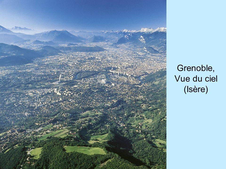 Grenoble, Vue du ciel (Isère)