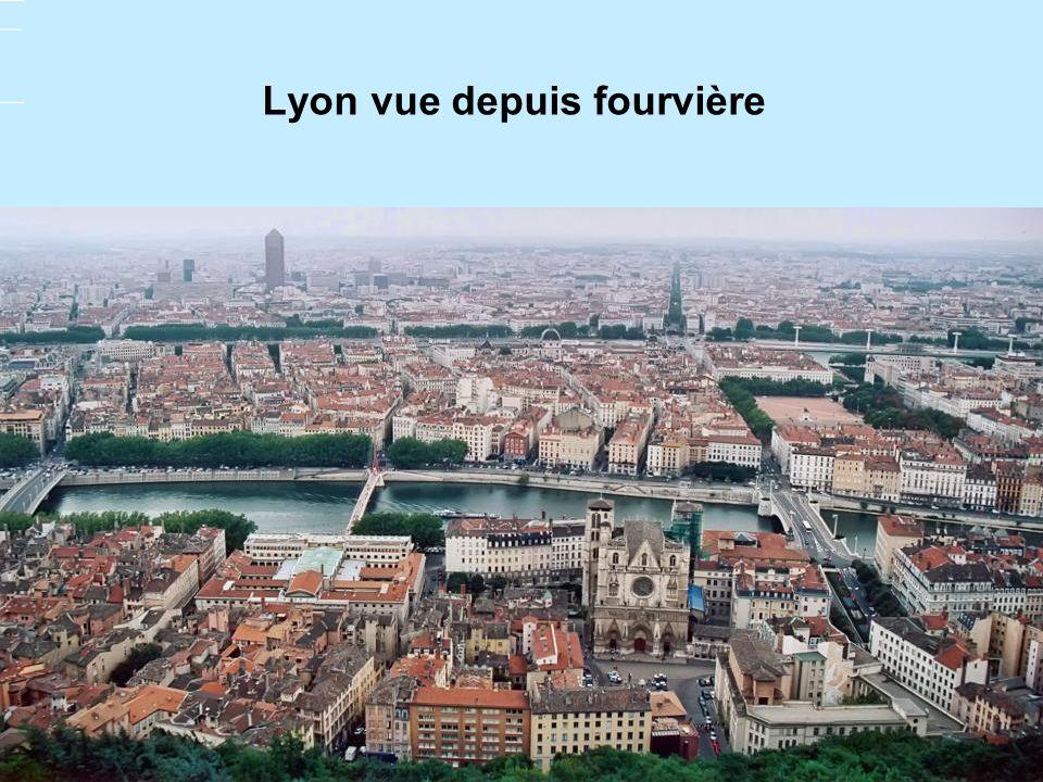 Lyon vue depuis fourvière
