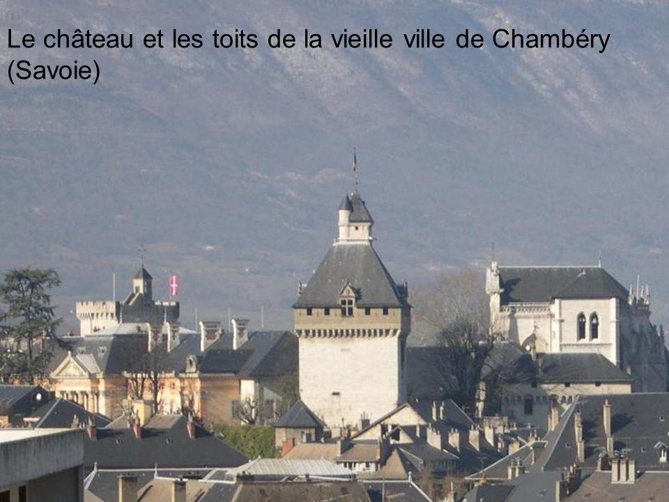 Le château et les toits de la vieille ville de Chambéry (Savoie)