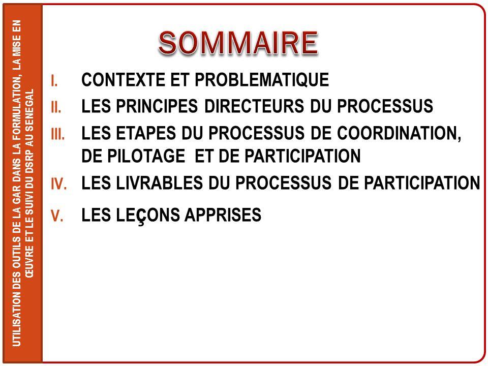 UTILISATION DES OUTILS DE LA GAR DANS LA FORMULATION, LA MISE EN ŒUVRE ET LE SUIVI DU DSRP AU SENEGAL Le Gouvernement du Sénégal met en œuvre depuis 2003 son Document de Réduction de la Pauvreté (DSRP) réactualisé en 2006 pour couvrir la période 2006-2010.