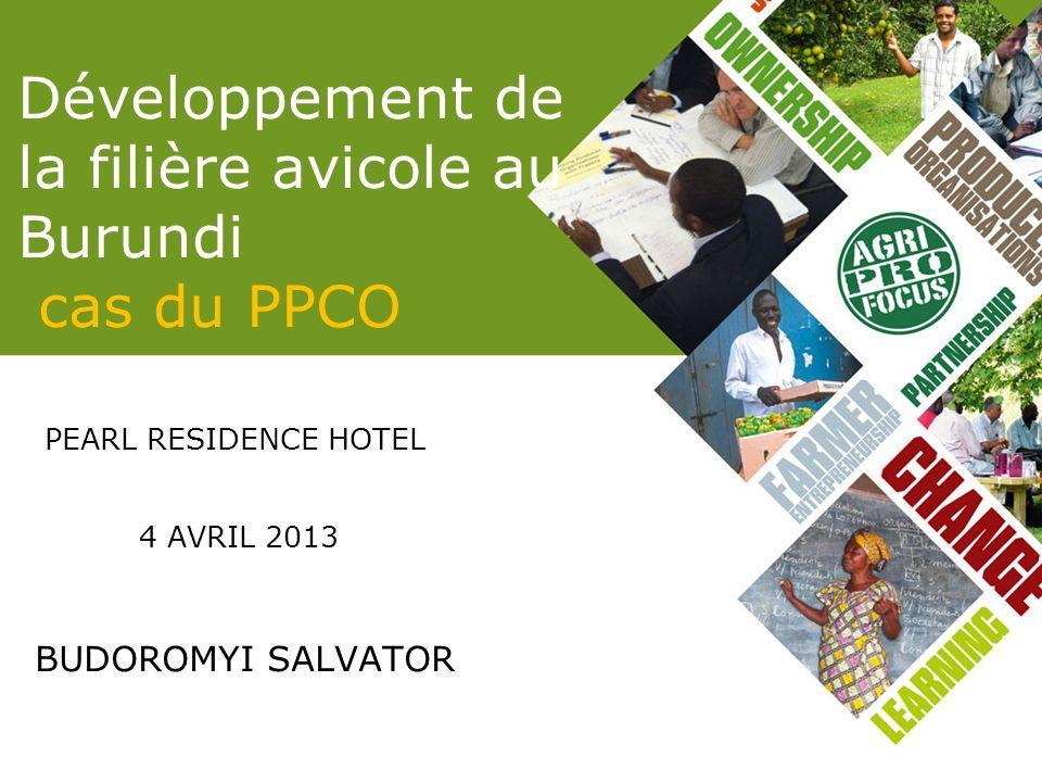Développement de la filière avicole au Burundi cas du PPCO PEARL RESIDENCE HOTEL 4 AVRIL 2013 BUDOROMYI SALVATOR