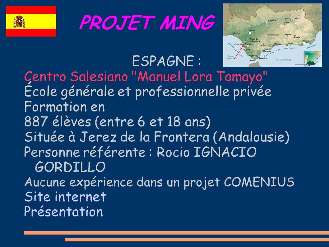 PROJET MING ESPAGNE : Centro Salesiano