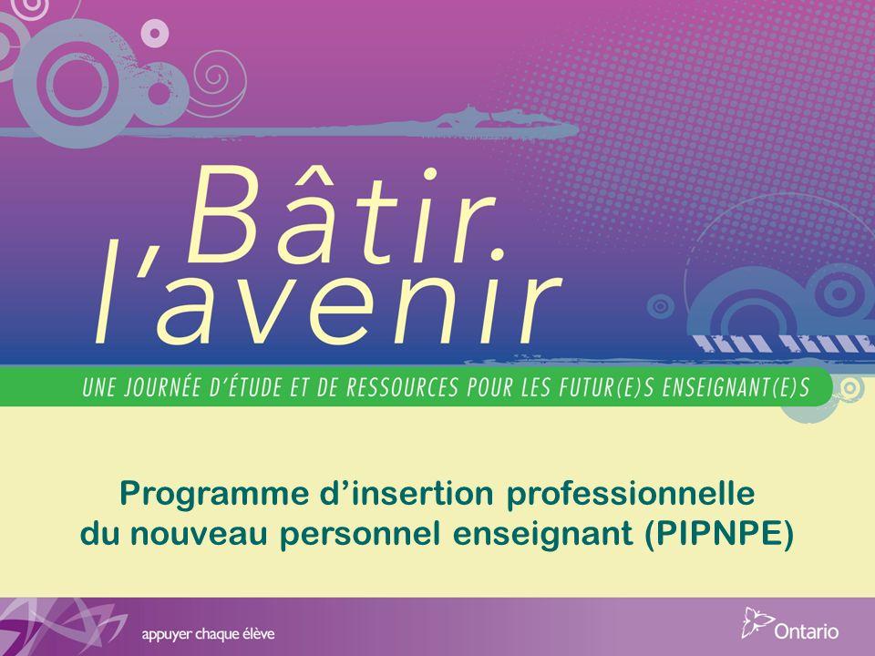 Programme dinsertion professionnelle du nouveau personnel enseignant (PIPNPE)