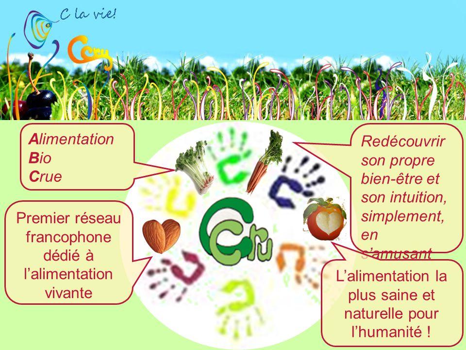 Alimentation Bio Crue Premier réseau francophone dédié à lalimentation vivante Redécouvrir son propre bien-être et son intuition, simplement, en samusant Lalimentation la plus saine et naturelle pour lhumanité !