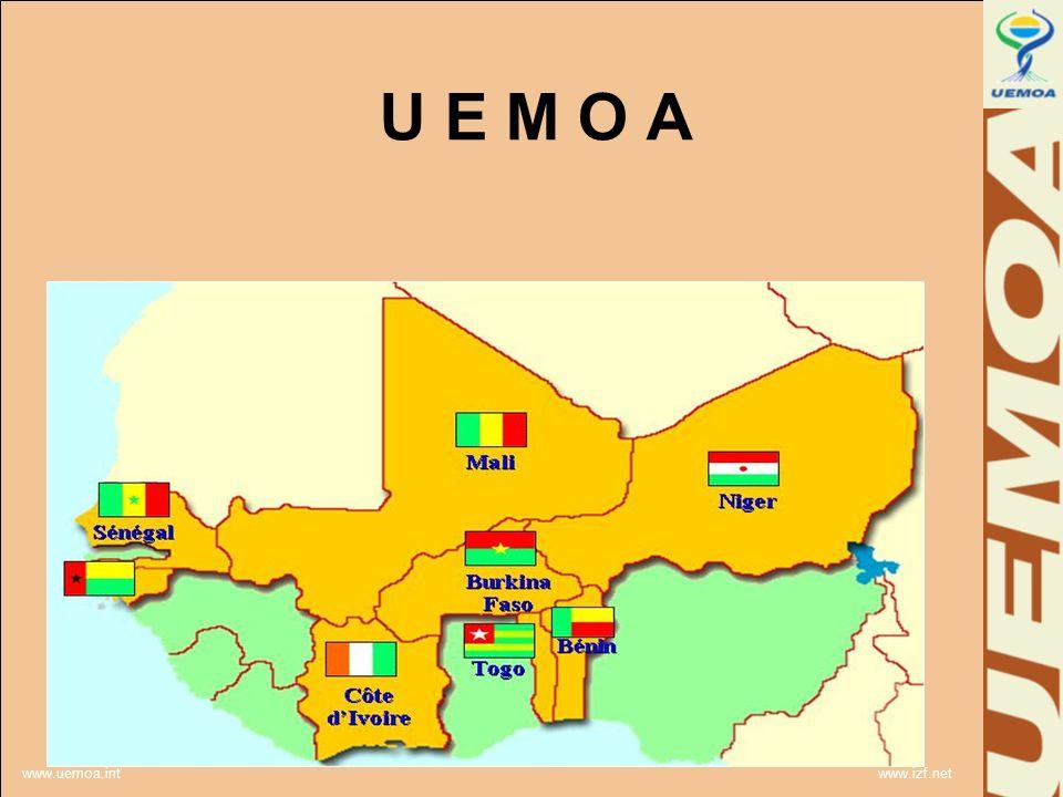 www.uemoa.int www.izf.net U E M O A Une nouvelle aire Pour une nouvelle ère www.uemoa.int www.izf.net U E M O A