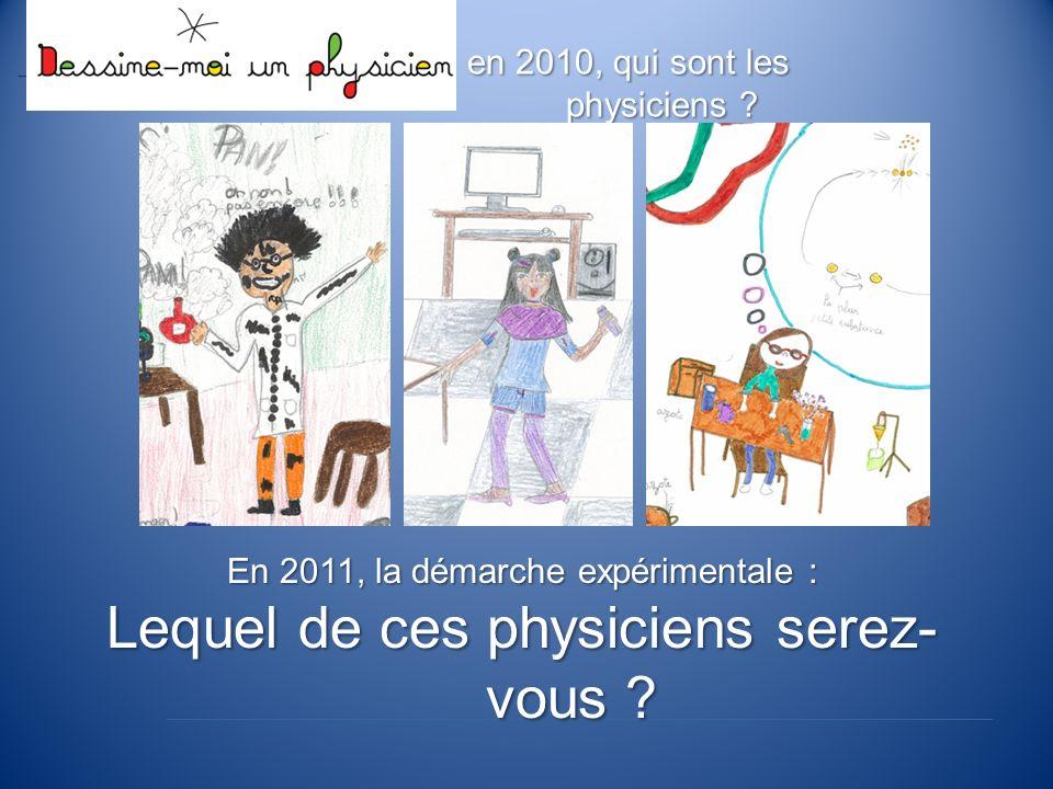 en 2010, qui sont les physiciens .