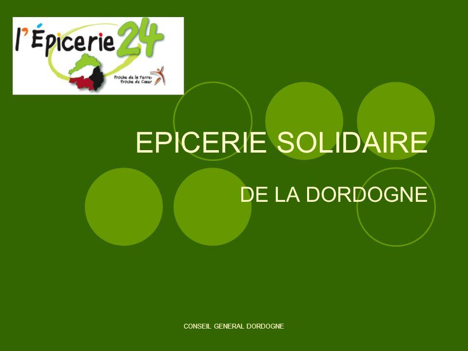 CONSEIL GENERAL DORDOGNE EPICERIE SOLIDAIRE DE LA DORDOGNE