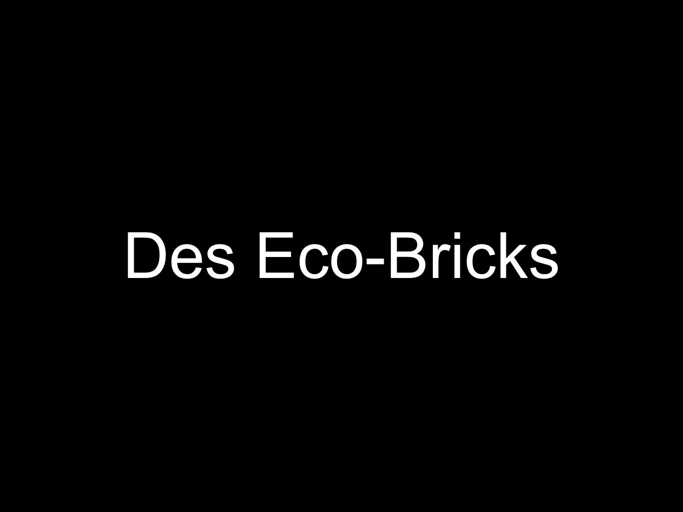 Des Eco-Bricks