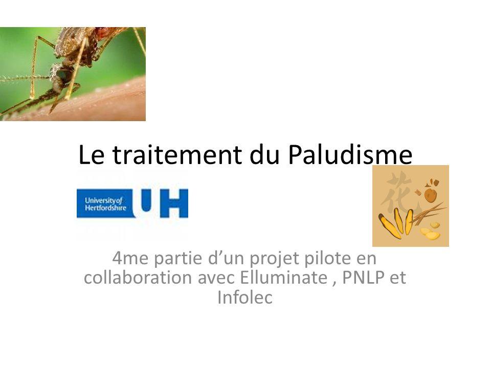 Le traitement du Paludisme 4me partie dun projet pilote en collaboration avec Elluminate, PNLP et Infolec