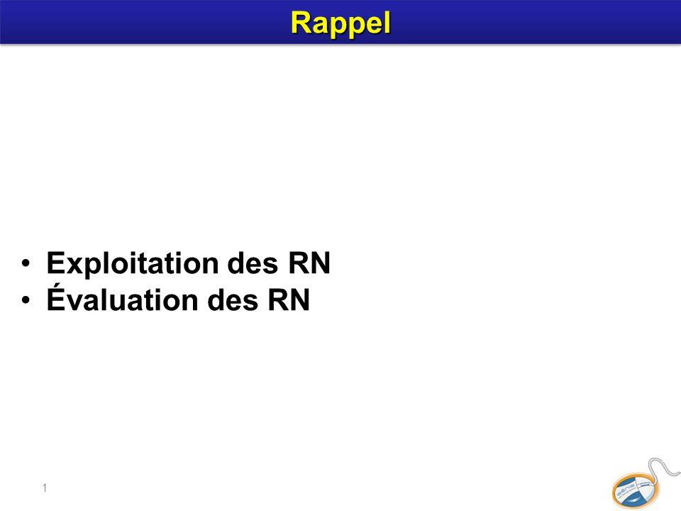 1 Exploitation des RN Évaluation des RN RappelRappel