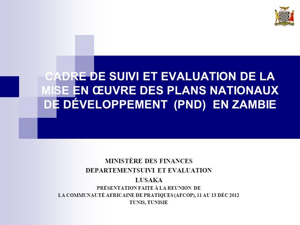 Plan de la présentation 1.Introduction 2. Cadre de S&E des PND 3.