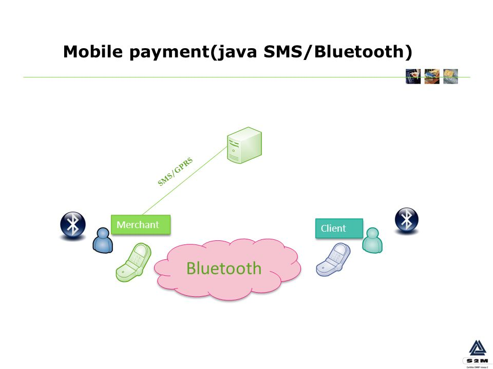 Mobile payment(java SMS/Bluetooth) Merchant Client Bluetooth SMS/GPRS