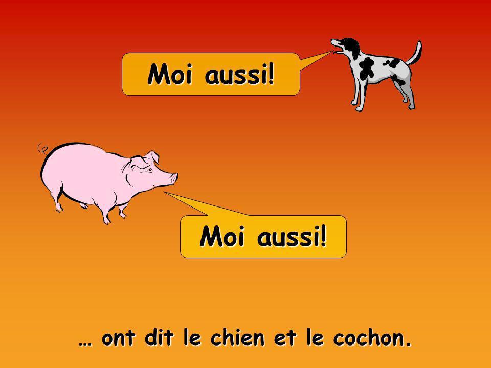Moi aussi! … ont dit le chien et le cochon.