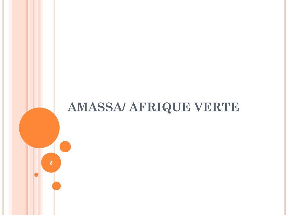 PRESENTATION AMASSA: Association Malienne pour la Sécurité et la Souveraineté Alimentaire BUT Contribuer à la sécurité et à la souveraineté alimentaire au Mali par le développement et la promotion des filières céréalières.