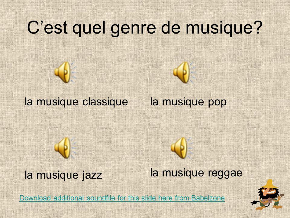 Tu aimes la musique.Jaime….