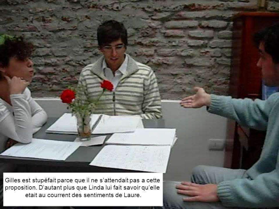 Gilles est stupéfait parce que il ne sattendait pas a cette proposition.