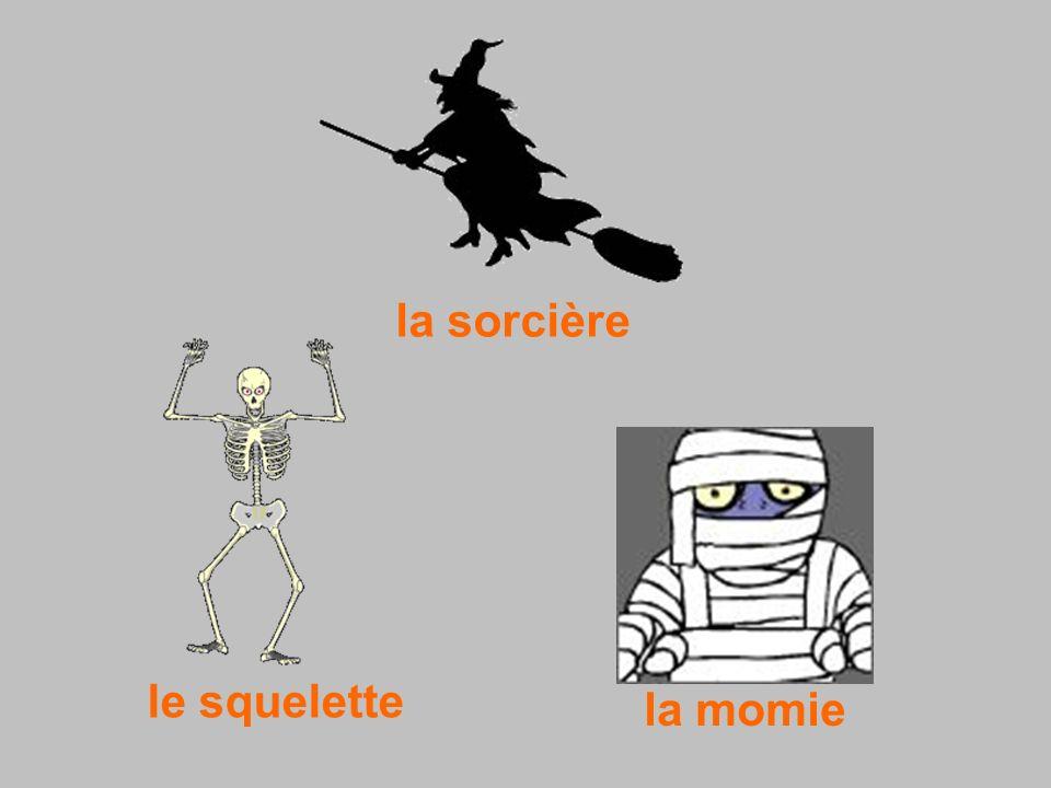 la sorcière la momie le squelette