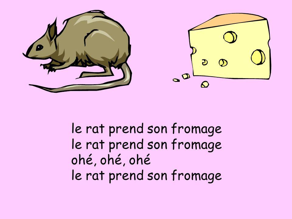 le fromage est mangé ohé, ohé, ohé le fromage est mangé