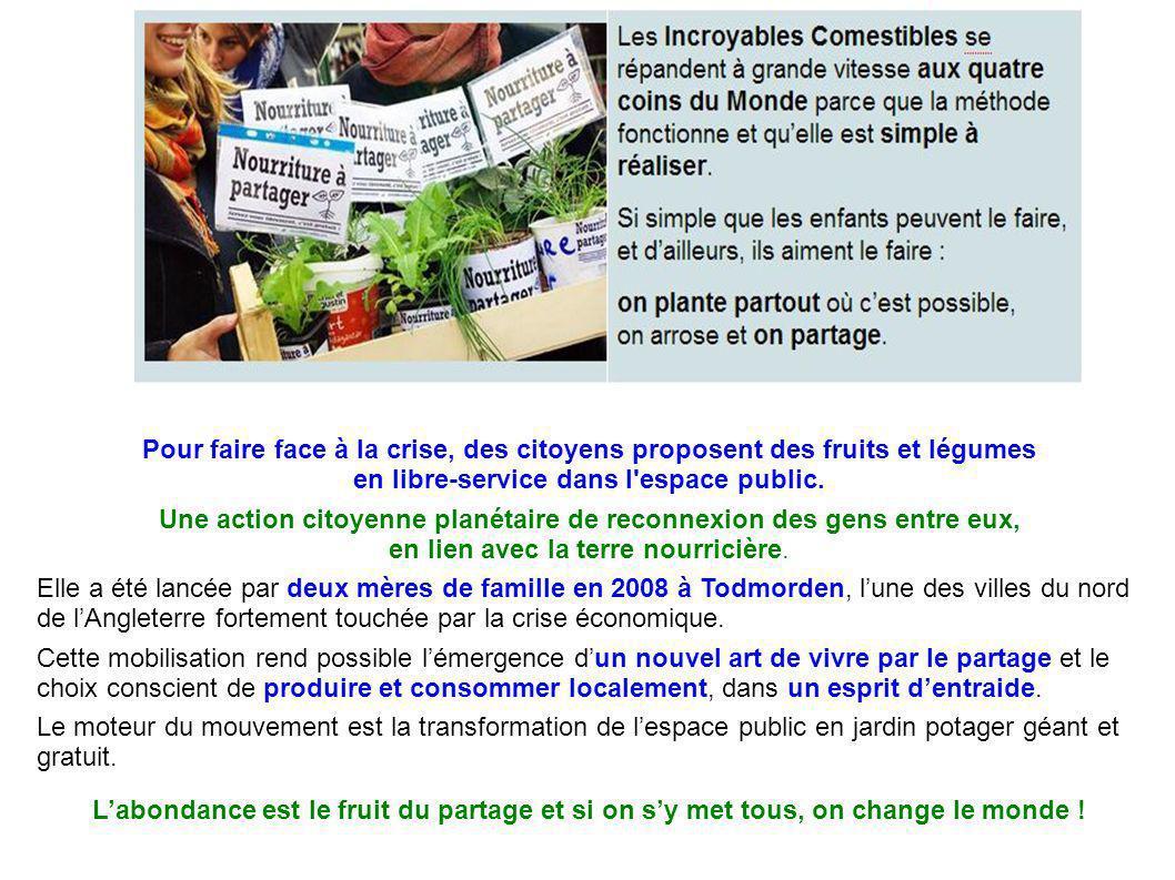 Pour faire face à la crise, des citoyens proposent des fruits et légumes en libre-service dans l espace public.