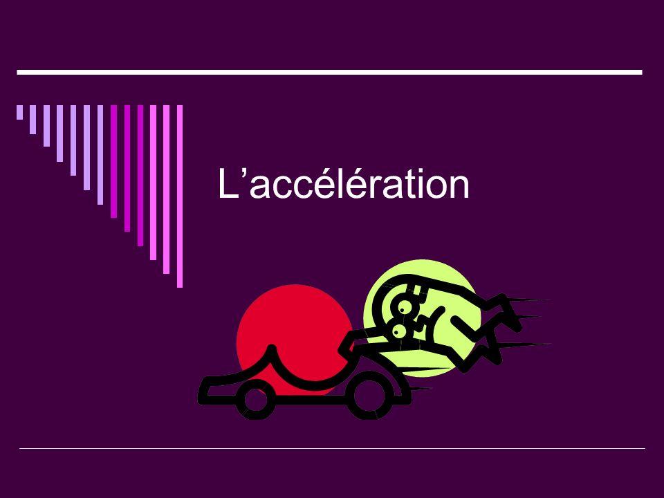 Laccélération